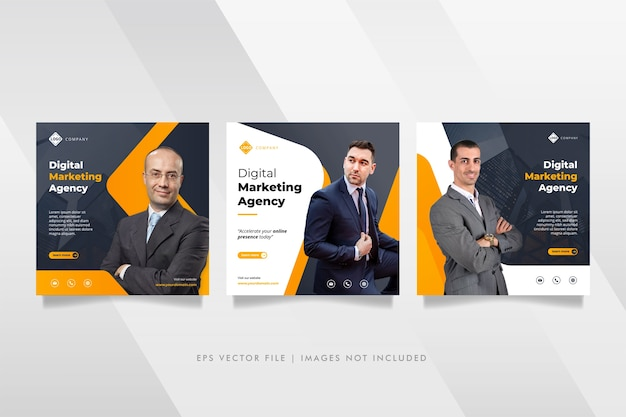 Digital business marketing agentur social media post & web banner