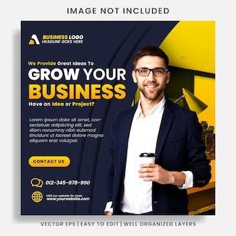 Digital business marketing agentur social media post & web banner
