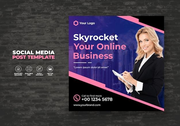 Digital business promotion und marketing agency expert corporate neue sozialmedien banner post template kostenlos