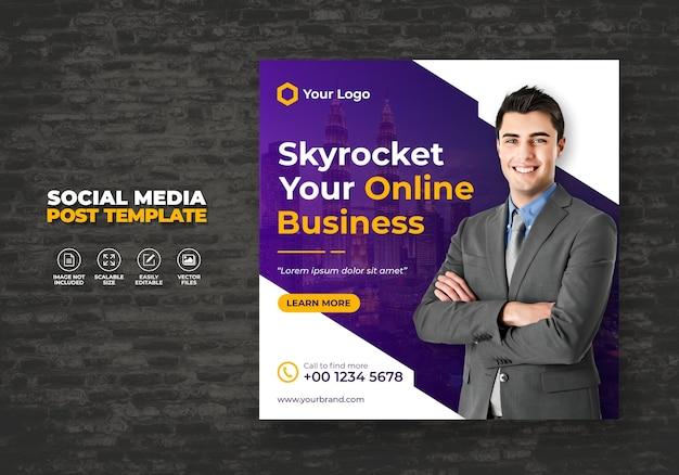 Digital business promotion und marketing agentur expert corporate social media banner post free template