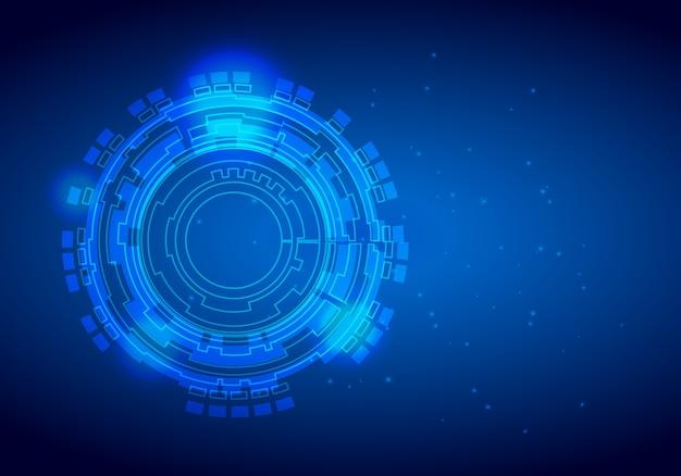 Digital business tech kreis und technologie hintergrund Premium Vektoren