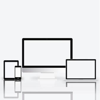 Digital-gerät-elektronisches technologie-kommunikations-konzept