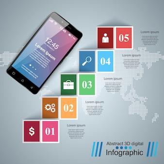 Digital-gerät smartphone tablet-symbol.