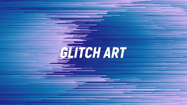 Digital glitch art blue abstrakter hintergrund