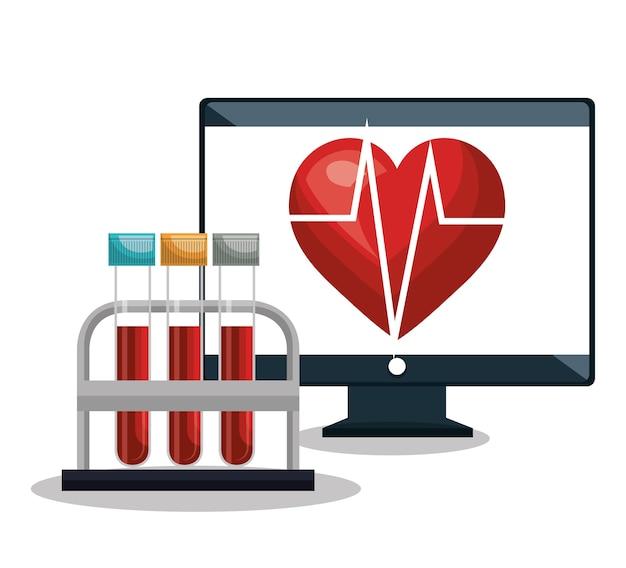 Digital healthcare kardiologie und reagenzglas-design