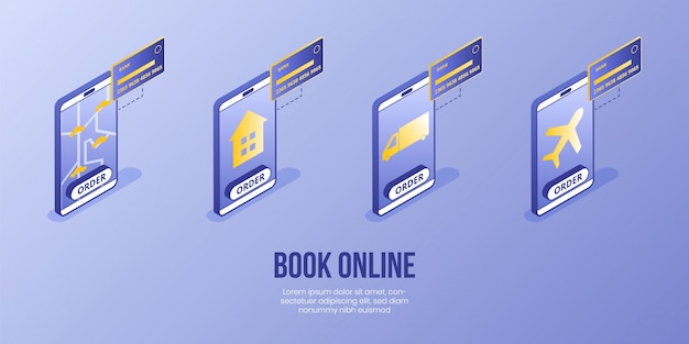 Digital isometrische design-konzept