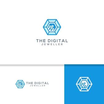 Digital juwelier logo vorlage