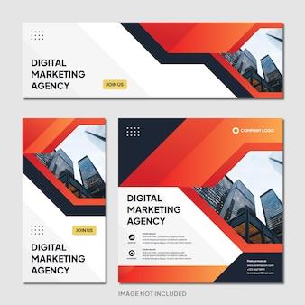 Digital marketing agentur instagram post banner vorlage moderner hintergrund