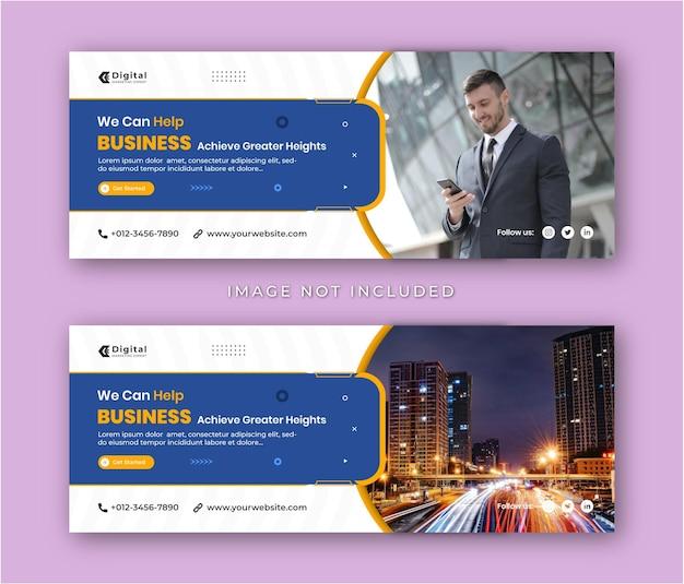 Digital marketing agentur und corporate business flyer moderne facebook cover social media post banner vorlage