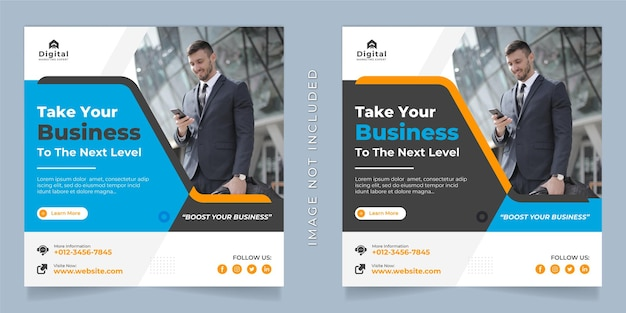 Digital marketing agentur und corporate business flyer square social media instagram post oder web banner vorlage