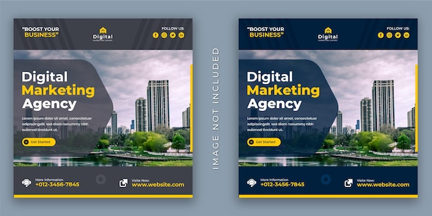 Digital marketing agentur und corporate business flyer