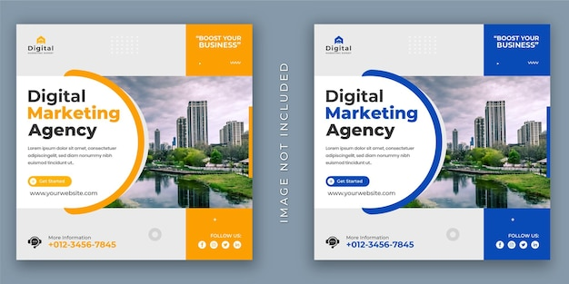 Digital marketing agentur und corporate business flyer