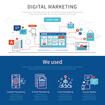 Digital marketing banner set