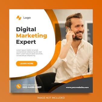 Digital marketing experte social media promotion anzeigen template design