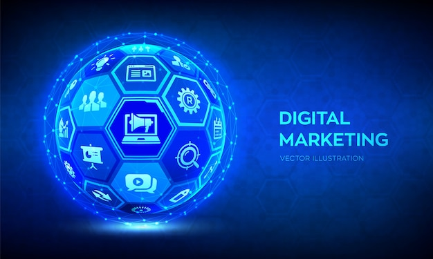 Digital marketing hintergrund