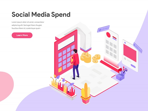 Digital-marketing-kosten-isometrisches illustrations-konzept