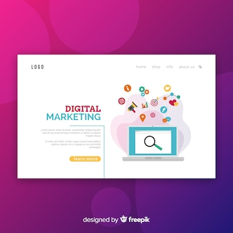 Digital marketing-landing-page-vorlage