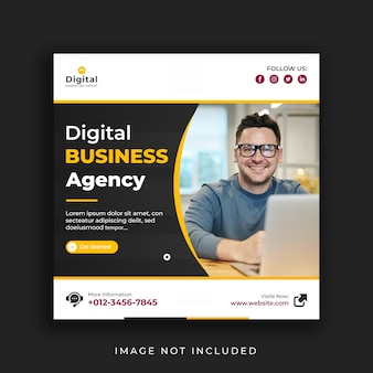 Digital marketing web und instagram social media post banner vorlage
