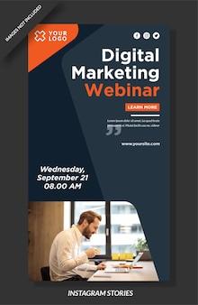Digital marketing webinar instagram geschichten vorlage