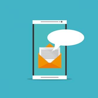 Digital messaging verwandte symbole bild