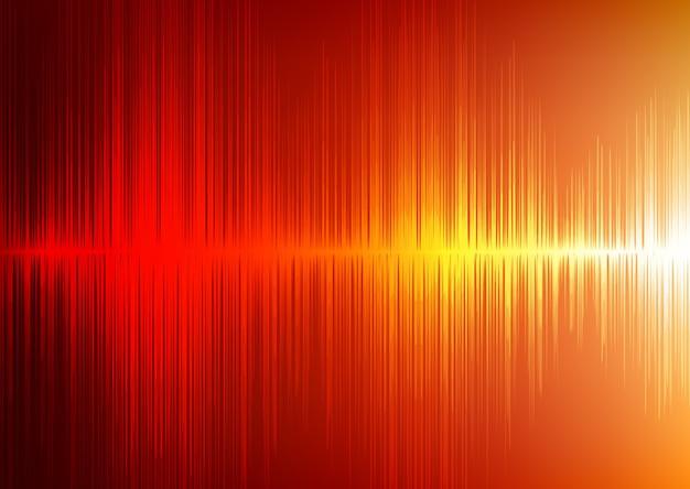 Digital-schallwelle oder radiowelle auf hellem hintergrund.