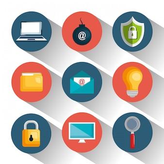 Digital-sicherheitsdesign der technologiedaten