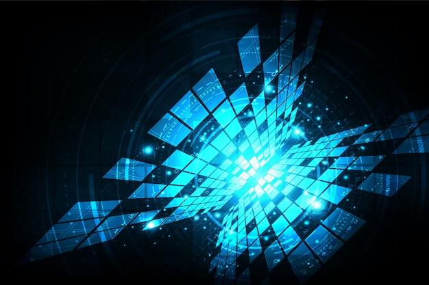 Digital-technologiehintergrund mit reichen informationen.