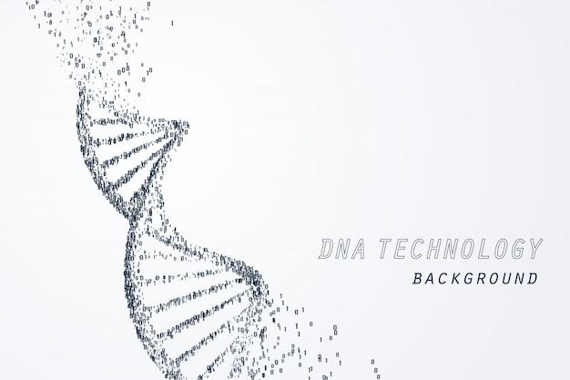 Digital von dna virtuell, technologie und medizinisches konzept