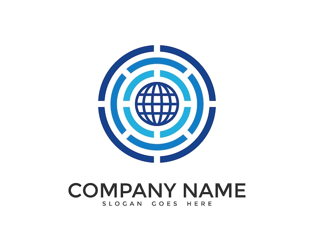 Digital world logo design