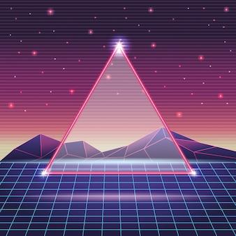 Digitale berglandschaft