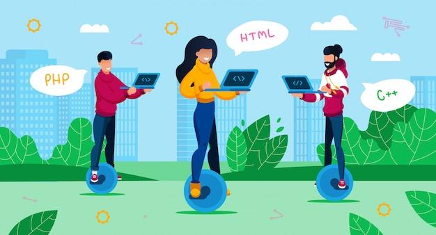 Digitale berufe, geek culture concept