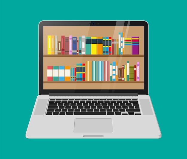 Digitale bibliothek, online-buchladen, e-reading