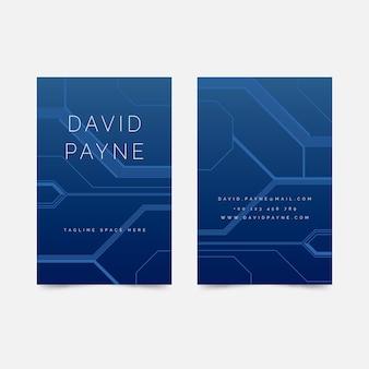 Digitale blaue visitenkartenvorlage