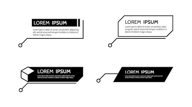 Digitale callouts titelrahmentext hud satz von vorlagen moderne banner vektor-design-element
