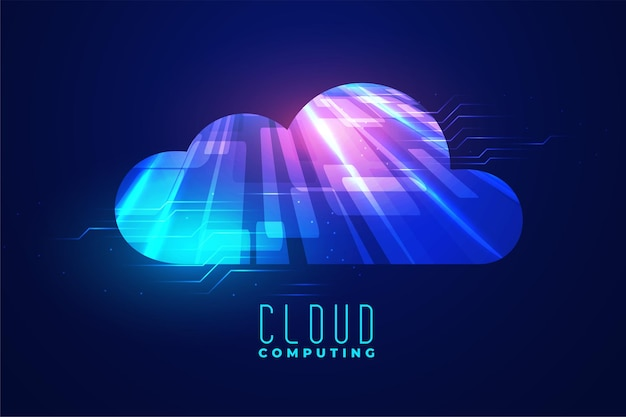 Digitale cloud-computing-technologie