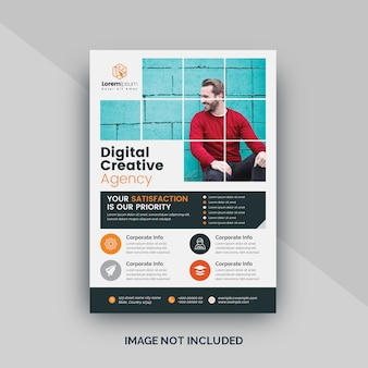Digitale flyer-vorlage für unternehmen