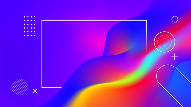 Digitale geometrische tech-elemente cloud computer abstrakten hintergrund