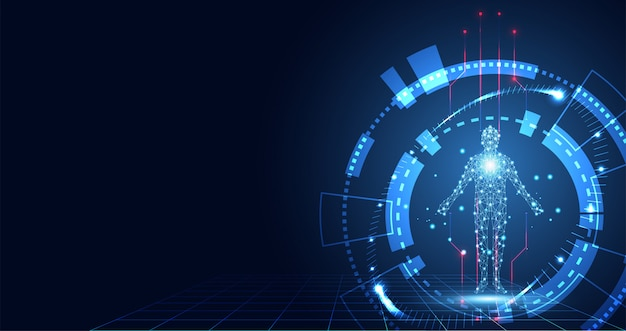 Digitale gesundheit der abstrakten technologie medizinisch
