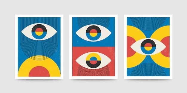 Digitale innendekorationskunst der abstrakten wandkunst der modernen plakatkunst