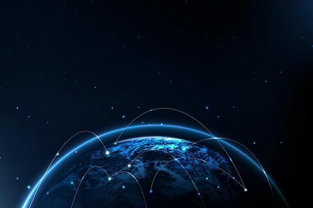 Digitale kommunikation im hintergrund der globalen netzwerktechnologie