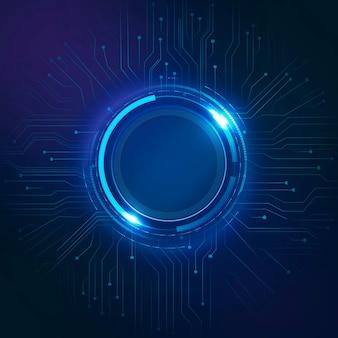 Digitale kreisschaltung hintergrundvektor futuristische technologie