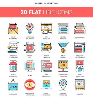 Digitale marketing icons
