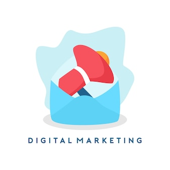 Digitale marketing-illustration