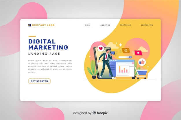Digitale marketing-landingpage