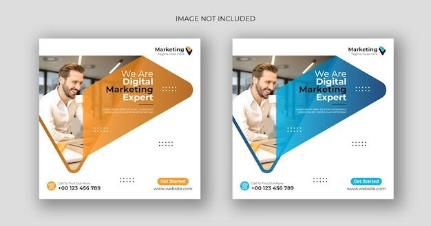 Digitale marketing-social-media-post-platz-banner-vorlage