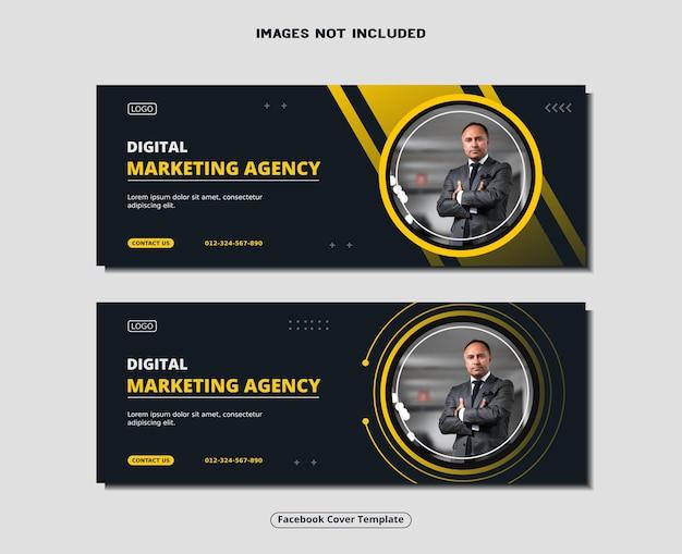 Digitale marketingagentur facebook cover banner social media post vorlage