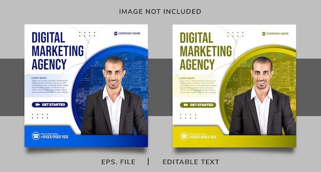Digitale marketingagentur social media promotion und instagram banner post template design
