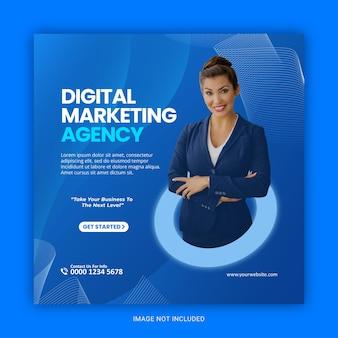 Digitale marketingagentur social media und instagram-post