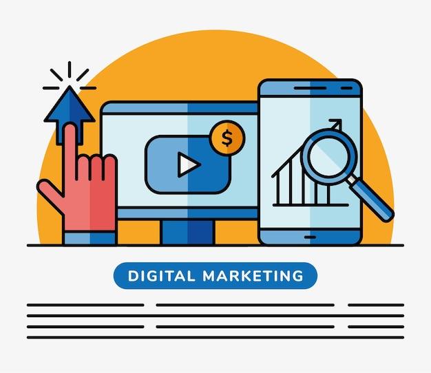 Digitale marketingillustration