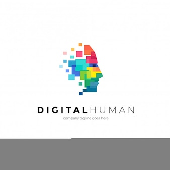 Digitale menschliche logo vorlage
